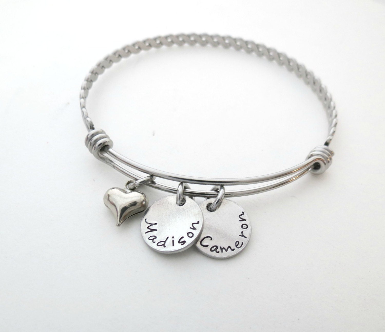 personalized name bracelet mothers bracelet personalized bangle