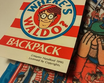 1990 Where's Waldo Backpack Brand New with Tags DEADSTOCK