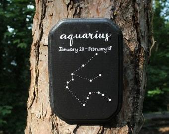 NOW 25% OFF! Aquarius Astrology Wooden Plaque