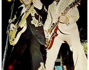 Vintage 1970s~ ZZ TOP, In CONCERT~Kings of Blues Boogie Rock Poster