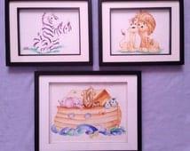 Precious Moments watercolor paintings