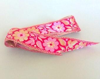 Pink & Gold Brocade Ribbon