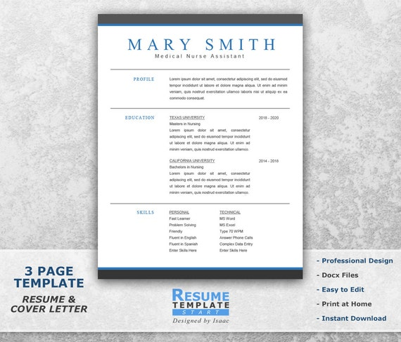 medical resume template word professional resume template