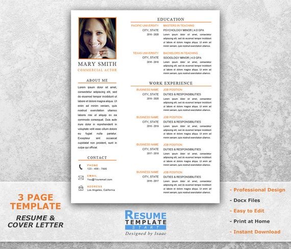acting resume template word design actor cover letter download doc theater