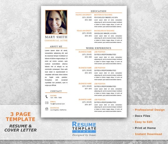 acting resume template word resume design template for word actor resume template word cover letter template t15 - Resume Template For Word