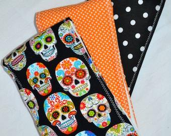 Sweet Skulls ~ Burp Cloths