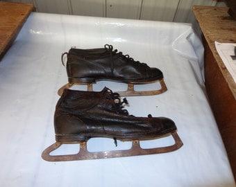 Vintage turn of the century hockey skates