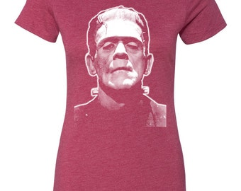 Frankenstein Women's T-Shirt Design Horror Movie Classic Monster of Frankenstein
