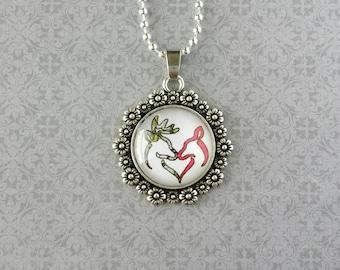Buck & Doe Necklace (Silver)