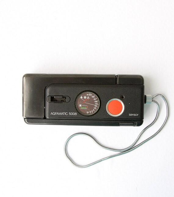 Vintage 1970's camera German Agfamatic 5008 Collectible Original pocket sensor camera Made in Germany Compact viewfinder Rare model