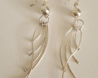 Handmade 925 Sterling Silver Earrings Peruvian Jewerly