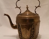 Vintage Brass Tea Pot