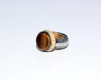 """Designer ring """"Tiger eye"""""""