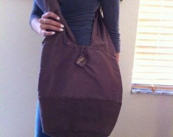 boho brown bag