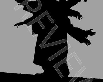 Tshirt - Echo & the Bunnymen: Silhouette