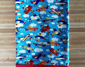 Cute Airplane Pillowcase, Boys Pillowcase, Airplanes, Pillowcase, Flying High Pillowcase, Embroidered, Monogrammed, Personalized, Gift