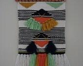 Hand Woven Wall Hanging - Wall Tapestry - Wall Art - Weaving - Fiber Art