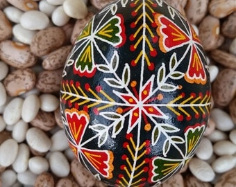 Pysanky - Red And Green Leaves