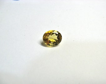 Citrine oval 11x9 mm with good colour and cutting..one piece.