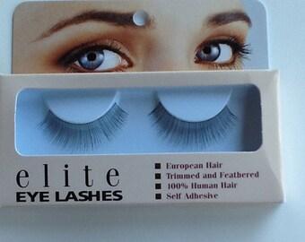 Human hair eyelashes #7 Black