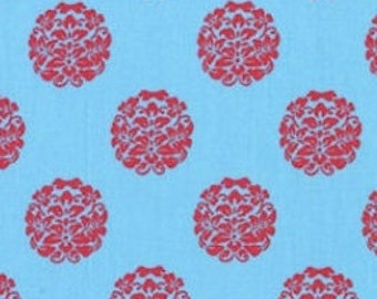 Paula Prass for Michael Miller, Bloom in Blue fabric, Woodland Delight Collection, 1 yard DC4083