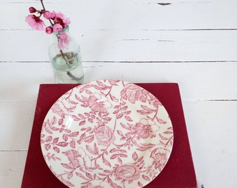 Churchill, peony pattern, floral plate