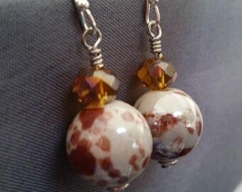 Sale - Mocha Swirl Earrings