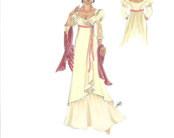 Maria - Love's Labour's Lost Original Costume Rendering