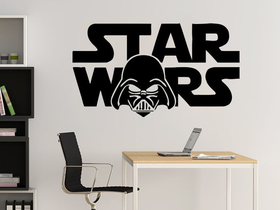 star wars wall decals wall decal wars logo darth vader vinyl sticker decals 30090