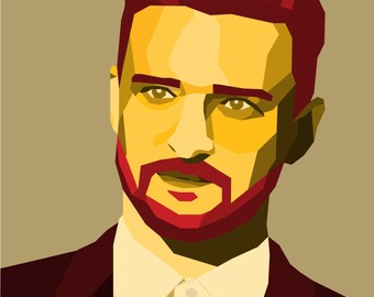 Custom Pop Art Printable Portrait, 2 Color Digital Illustration