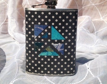 Polka Dot Hip Flask