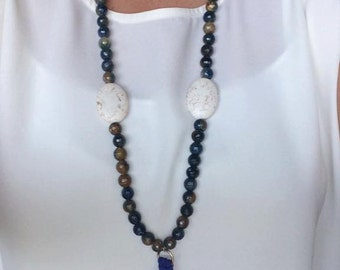 Royal Blue Beads & Tassel