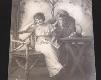 Series of 5 romantic vintage Postcards