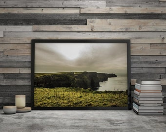 """""""Cliffs of Moher"""", poster art print framed"""