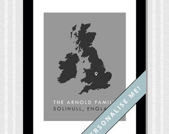 Personalised Home/Family Print (30 cm x 40 cm)