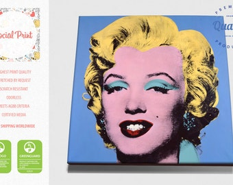 Marilyn Monroe in Blue - Andy Warhol, Canvas Print