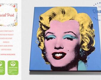 Marilyn Monroe in Blue - Andy Warhol, Canvas Print, wall art, Giclée, Blue Marilyn Monroe canvas print, pop art print, pop art canvas