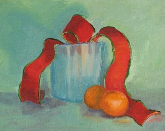 Still Life with Red Ribbon