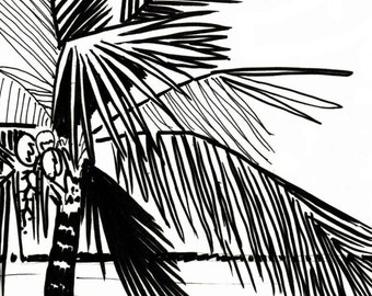 palm tree coloring page embroidery pattern digital download adult coloring page coloring page beach scene palm tree pattern - Palm Tree Beach Coloring Page