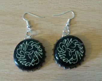 Black Sheep Bottle Cap Earrings