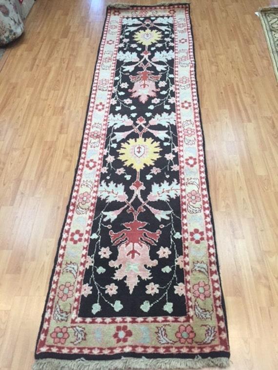 """2'4"""" x 9'3"""" Persian Heriz Runner Oriental Rug - Hand Made - 100% Wool - Vegetable Dye"""