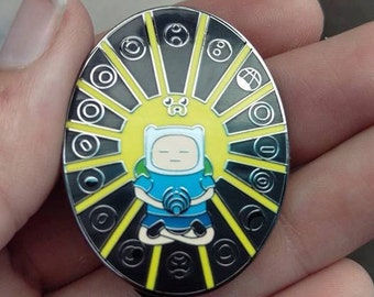 adventure time bassnectar hat pin