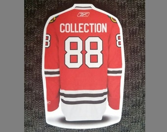 Personalized Jersey Fridge Magnets - NHL Team Colours - Any Name and Numbers