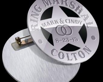 Ringer Bearer Gift PN1011 Ring Marshal Badge Pin for Ring Bearer at Wedding - Ring Bearer Gift