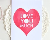 Romantic Cards - Love You Much - Anniversary Card - Happy Anniversary - Card for Boyfriend Girlfriend Husband Wife - I Love You Card