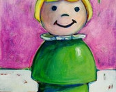 Fisher Price Little People Girl-Original Painting