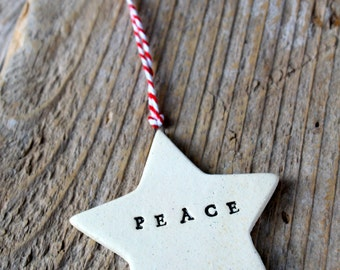 Star Pottery Ornament