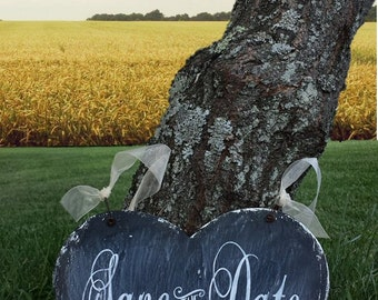 Save the Date Sign   Personalized Engaged Sign   Save The Date Idea   Save the Date Photo Prop   Rustic Wedding Sign  Chalkboard Sign  Heart