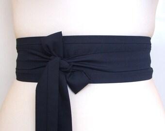 Navy blue Obi kimono belt  ... obi belt, Japanese belt, Kimono sash, asian style