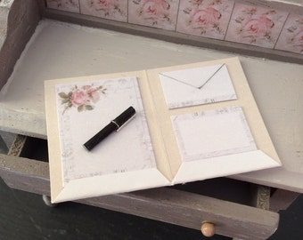 Dolls House Miniature Writing Letter Set in 1:12 scale